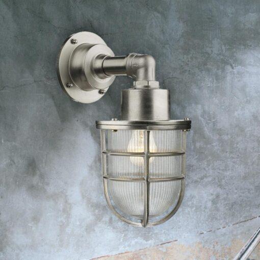 Nautical Nickel Wall Light