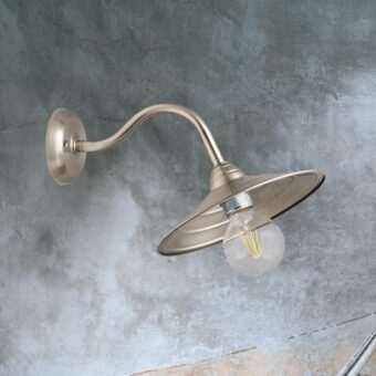 Nickel Brass Swan Neck Wall Light