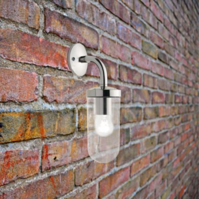 Nickel Exterior Wall Light