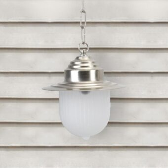 Nickel Frosted Glass Pendant Light