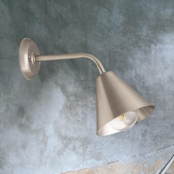 Nickel Minimal Industrial Wall Light