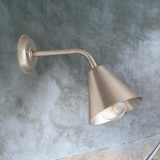 Nickel Minimal Industrial Wall Light