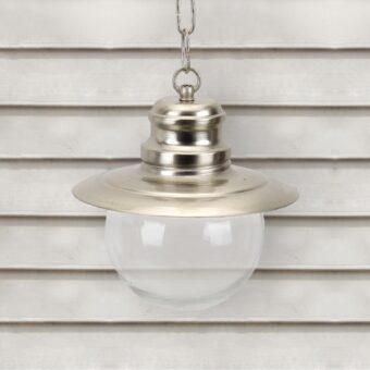 Nickel Nautical Clear Globe Lantern Pendant Light