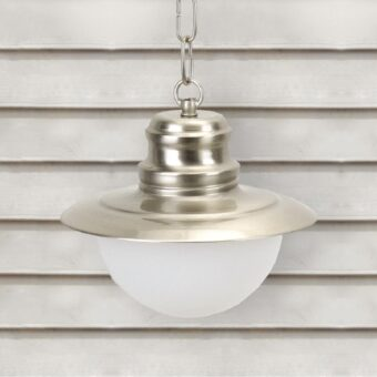 Nickel Nautical Opal Globe Lantern Pendant Light