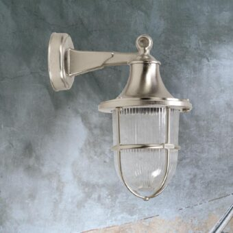 Nickel Nautical Outdoor Wall Lantern