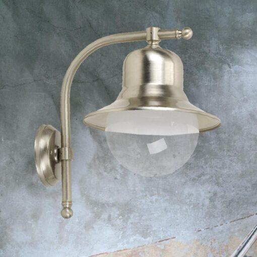 Nickel Nautical Vintage Wall Lantern