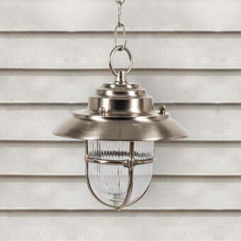 Nickel Outdoor Pendant Light