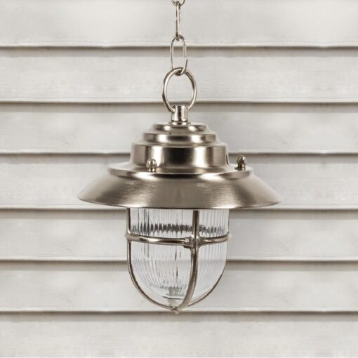 Nickel Outdoor Pendant Light