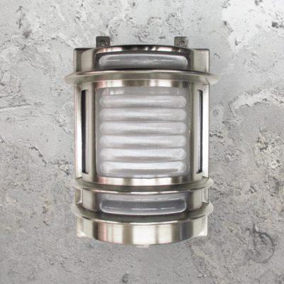 Nickel Traditional Lantern Bulkhead Light