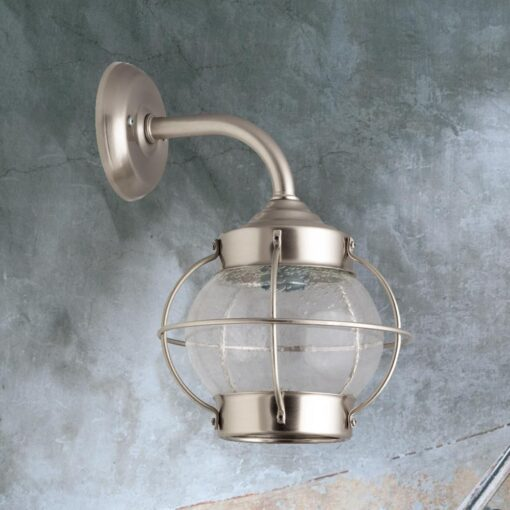 Nickel Vintage Brass Wall Lantern