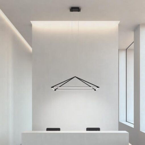 Office LED Suspended Pyramid Pendant