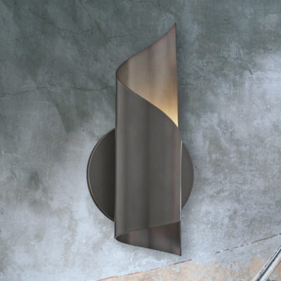 Old Bronze Spiral Wall Light