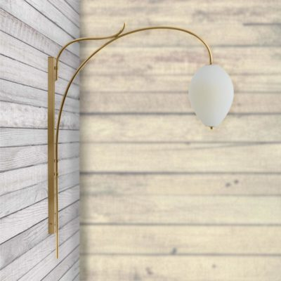 Opal Glass Arch Wall Light