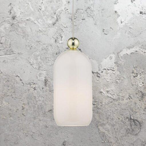 Opal Glass Bell Pendant Light