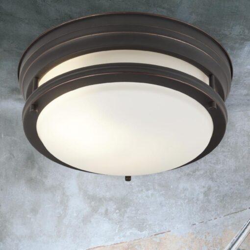 Opal Glass Brown Flush Light