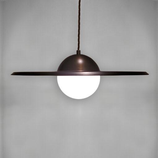 Opal Globe Dish Pendant Light