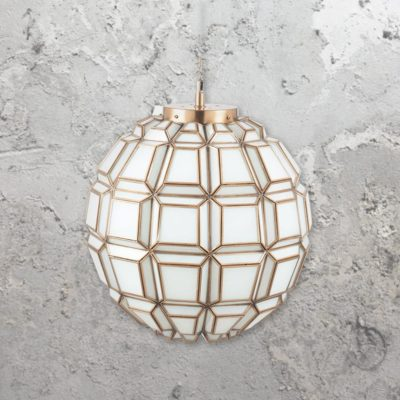Opal Moroccan Glass Geometric Pendant Light