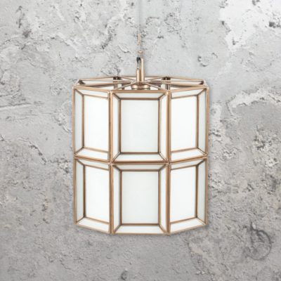 Opal Moroccan Glass Round Pendant Light