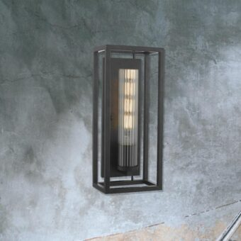Black Metal Open Box Wall Light
