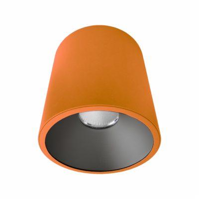 Orange Black Surface Mounted LED Downlight