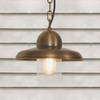Outdoor Aged Brass Pendant Light