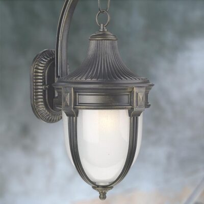 Outdoor Black Opal Wall Lantern