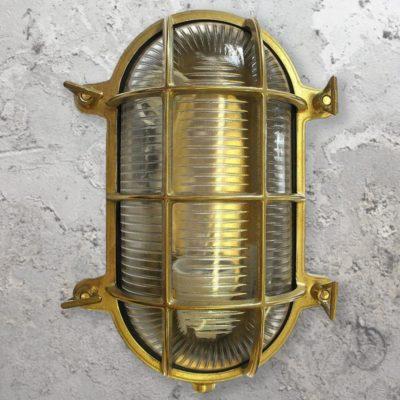 Outdoor Brass Oval Bulkhead Light