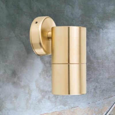 Outdoor Brass Tube Wall Light