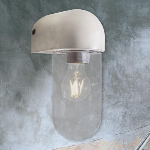 Outdoor Concrete Glass Wall Light