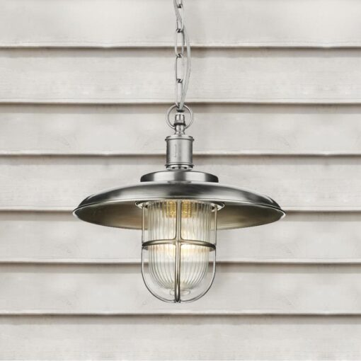 Nickel Outdoor Fisherman Pendant Light