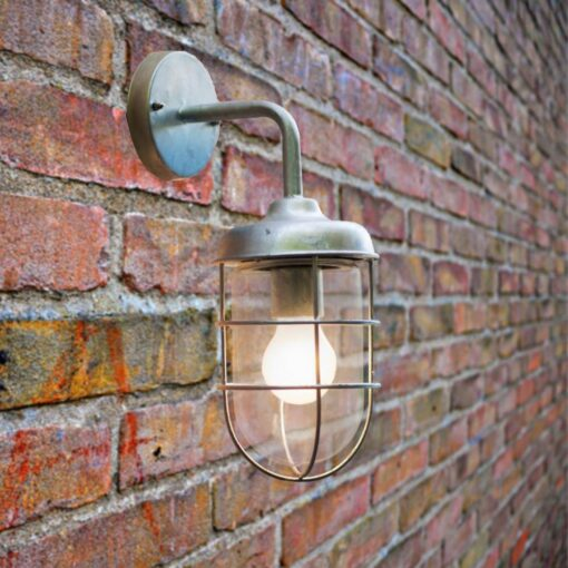 Outdoor Galvanised Steel Wall Light