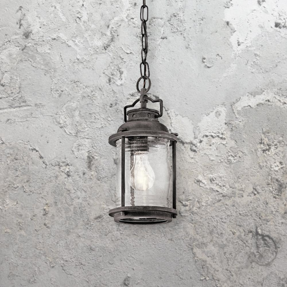 Reeded Glass Ceiling Light