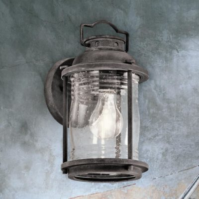 Outdoor Seeded Glass Wall Light