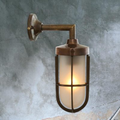 Outdoor Vintage Brass Wall Light