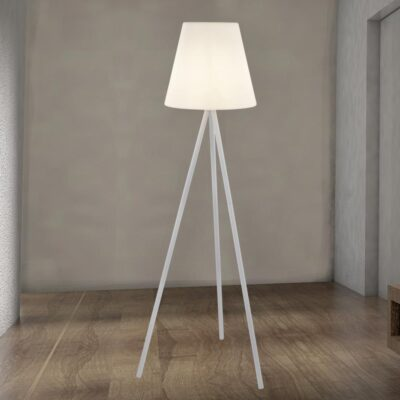 Outdoor White LED Floor Lamp
