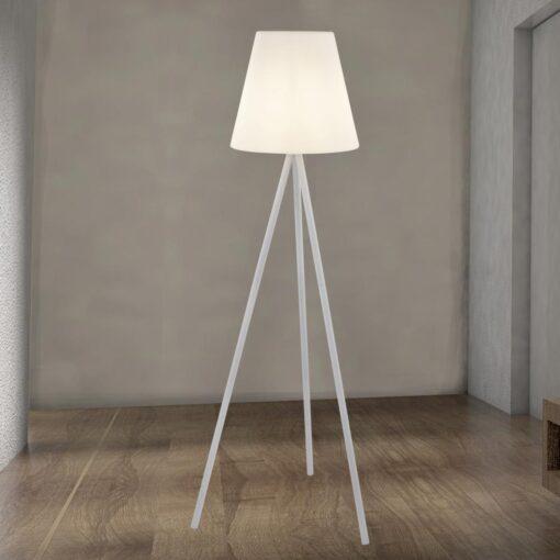Outdoor White LED Floor Lamp