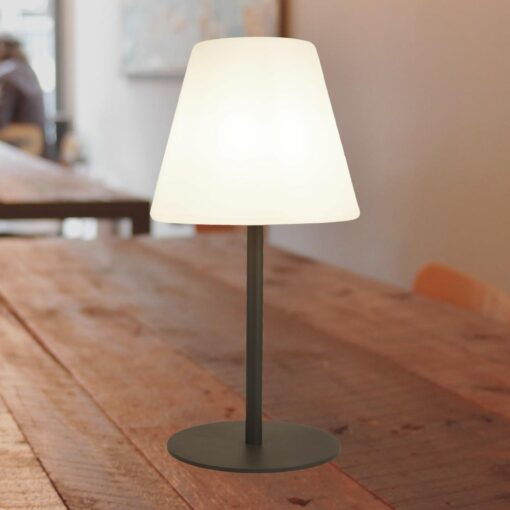 Outdoor White LED Table Lamp