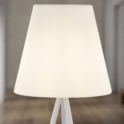 Outdoor White Tripod LED Floor Lamp