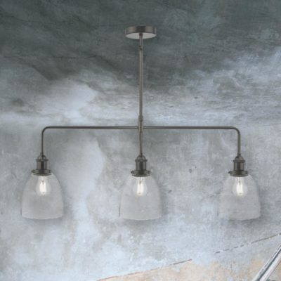 Pewter 3 Light Pendant Bar