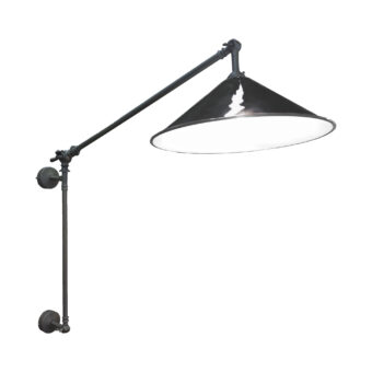 Pewter Black Coolie Enamel Wall Light
