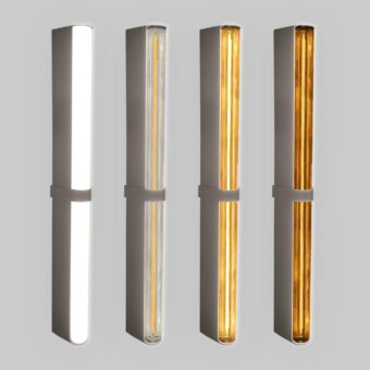 Pewter LED Tube Wall Light