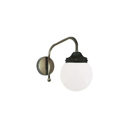Pewter Opal Globe Wall Light