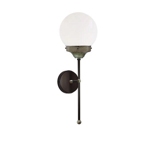 Pewter Opal Globe Wall Light