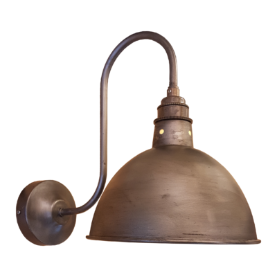 Pewter Swan Neck Wall Light