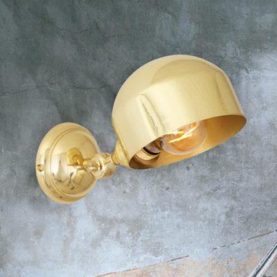 Polished Brass Adjustable Wall Light