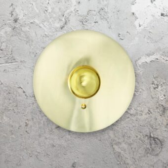 round polished brass disc wall light,disc wall lights