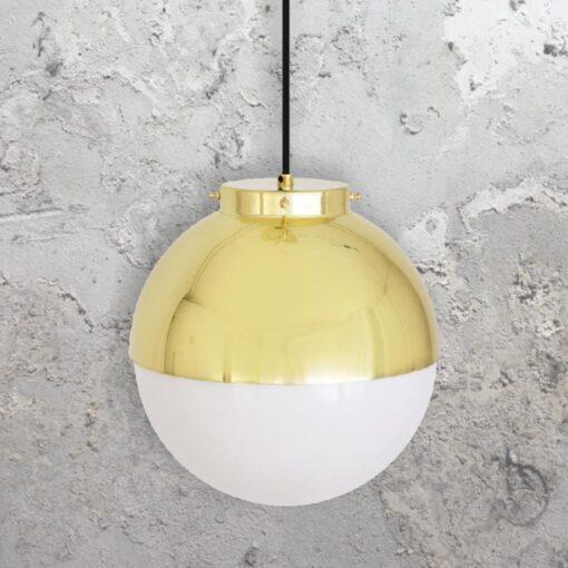 Polished Brass Globe Pendant Light