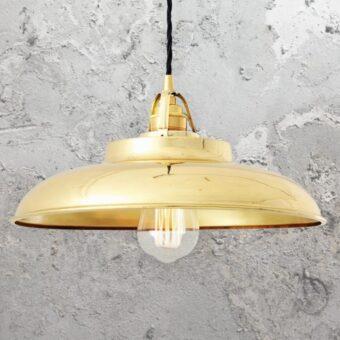Polished Brass Industrial Farmhouse Pendant Light