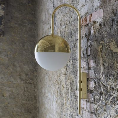 Polished Brass Minimalist Wall Light