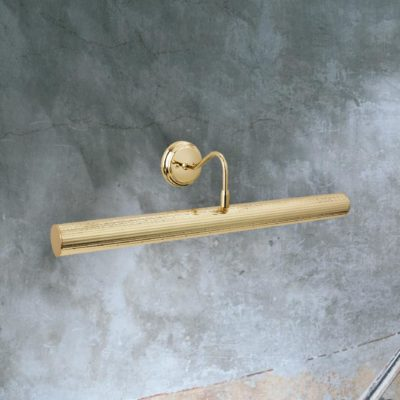 Polished Brass Reeded Picture Light
